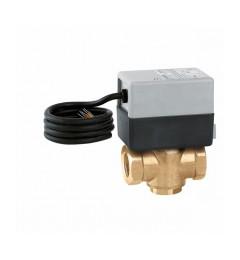 """Trokraki zonski ventil 1"""" sa motornim pogonom 230V i dodatnim mikroprekidacem"""